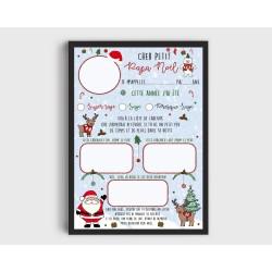 Affiche ma liste au Père Noël