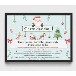 Carte Cadeau 26€, pour une...