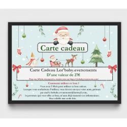 Carte Cadeau 27€, pour une...